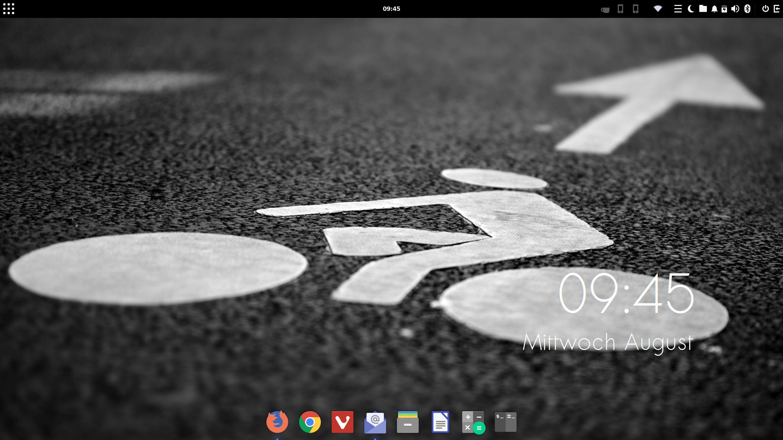 Ubuntu Budgie 19.04 Desktop mit Plank