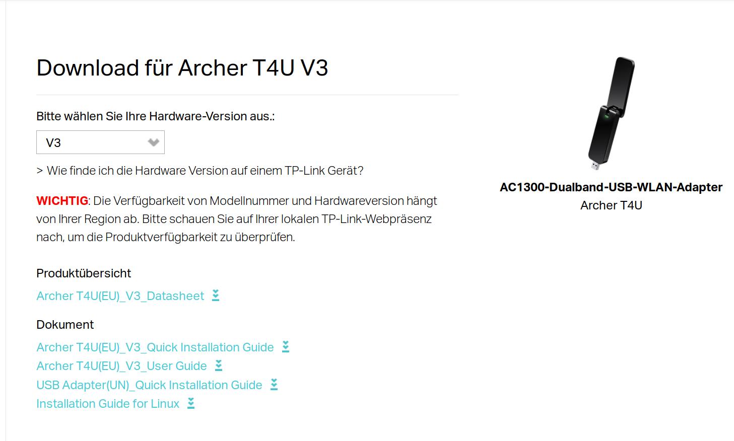 tp link archer t4u v3